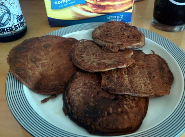 As always, the color of stout pancakes amuses me
